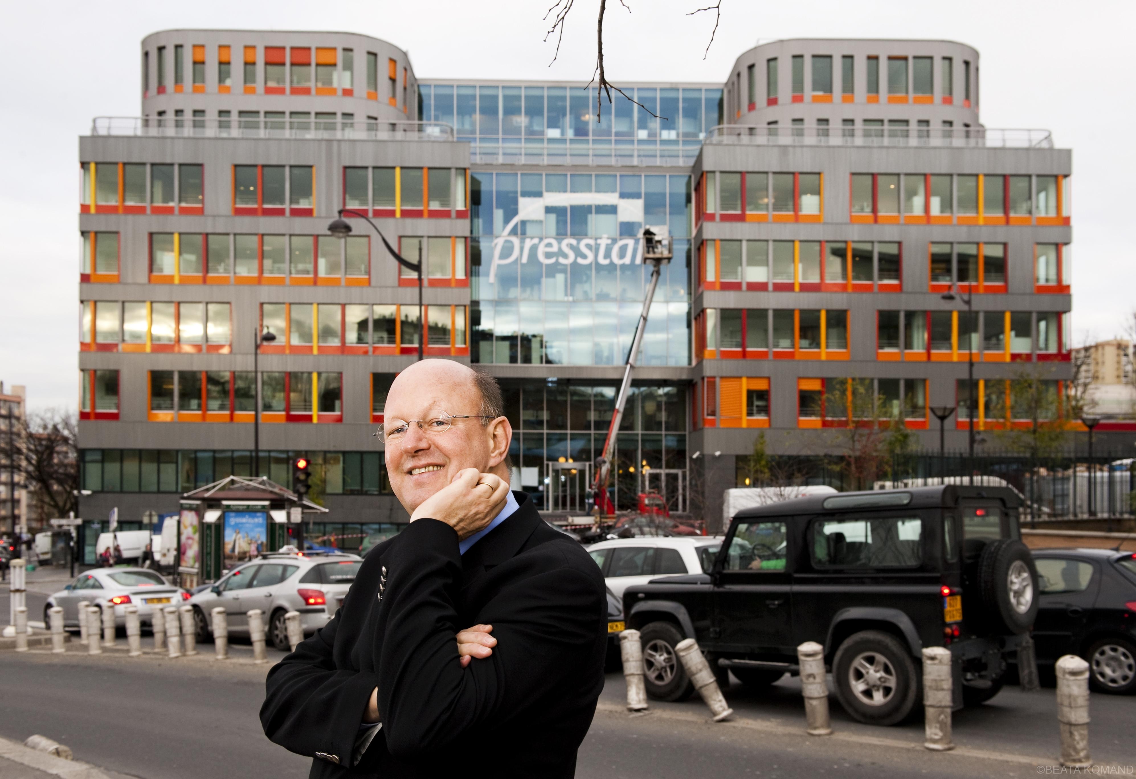Remy Pflimlin, actuellement président de France Télévisions devant Prestalis